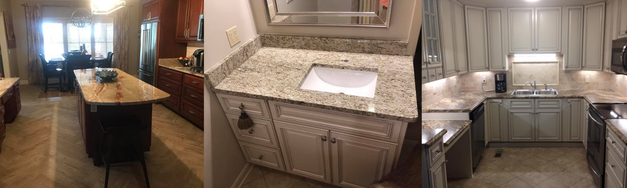 Flooring, Cabinets and Countertops